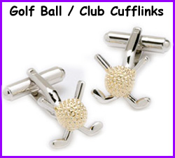 Ball and club golf cufflinks for golfers for Golf buflings